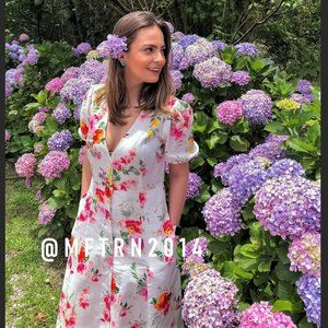 ZARA Floral Print Linen Maxi Dress*
